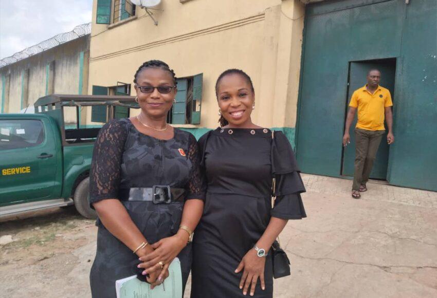 L-R Ngozi Ejike (Imo state LAC coordinator) and Linda Mogekwu PLAO